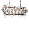 """Picture of 49"""" 21 Light Up Chandelier with Light Brown finish"""