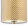"""Picture of 49"""" 8 Light Drum Shade Chandelier with French Gold finish"""