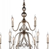 "Picture of 49"" 9 Light Up Chandelier with Speckled Nickel finish"