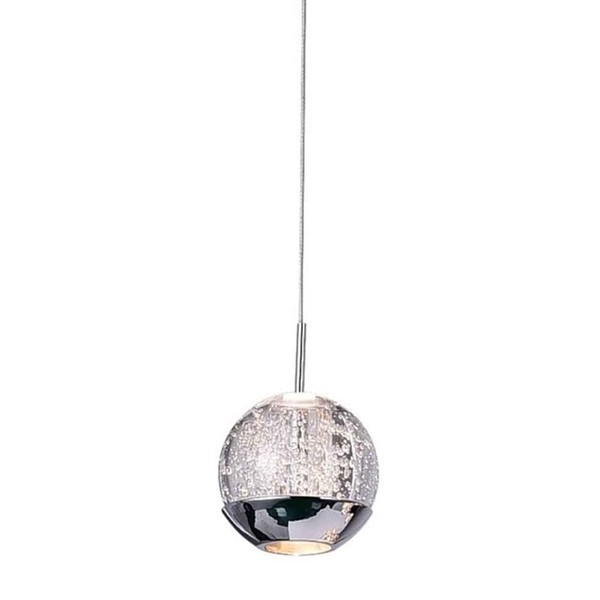 "Picture of 5"" 1 Light Down Mini Pendant with Chrome finish"