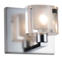 "5"" 1 Light Vanity Light with Satin Nickel finish"