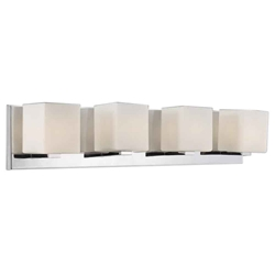 "5"" 4 Light Bathroom Sconce with Satin Nickel finish"