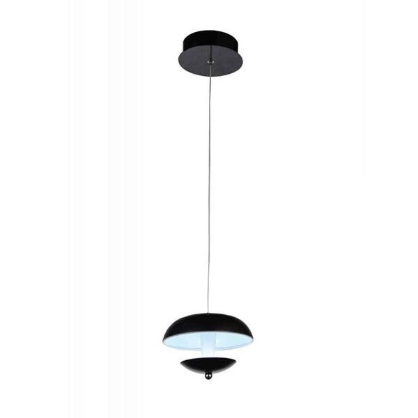 "Picture of 5"" LED Down Mini Pendant with Black & White finish"