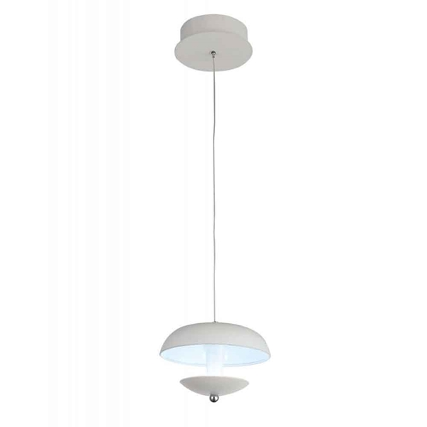 "Picture of 5"" LED Down Mini Pendant with White finish"