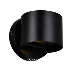 """5"""" LED Wall Sconce with Black Finish"""