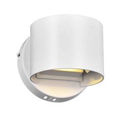"""5"""" LED Wall Sconce with White Finish"""