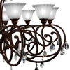 "Picture of 50"" 10 Light Candle Chandelier with Dark Bronze finish"
