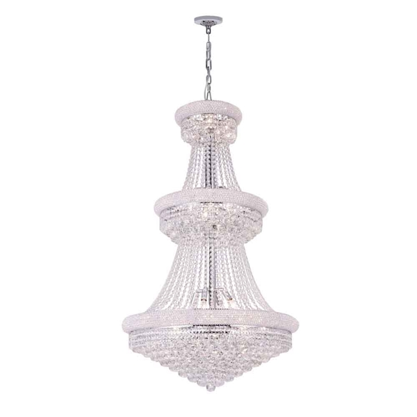 """Picture of 50"""" 32 Light Down Chandelier with Chrome finish"""
