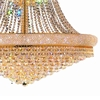 """Picture of 50"""" Empire Crystal Large Foyer Round 3-Tier Chandelier Gold Plated 32 Lights"""