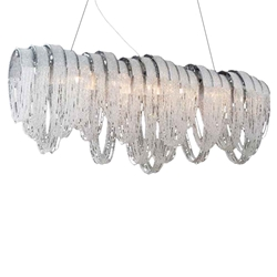 "51"" 10 Light Down Chandelier with Chrome finish"