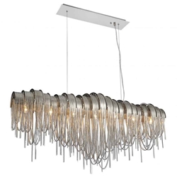 """51"""" 10 Light Down Chandelier with Chrome finish"""