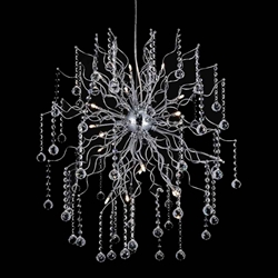 """51"""" 20 Light  Chandelier with Chrome finish"""