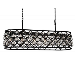 "51"" 7 Light  Chandelier with Black finish"