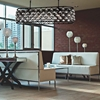 """Picture of 51"""" 7 Light  Chandelier with Black finish"""