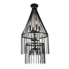 "Picture of 52"" 12 Light  Chandelier with Gray finish"