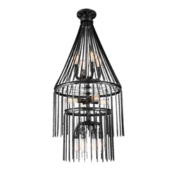 """52"""" 12 Light  Chandelier with Gray finish"""