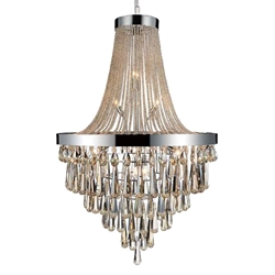 "52"" 17 Light Down Chandelier with Chrome finish"