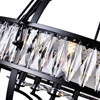 """Picture of 53"""" 6 Light  Chandelier with Black finish"""