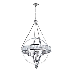 """53"""" 6 Light  Chandelier with Chrome finish"""