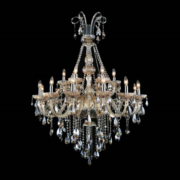 "Picture of 54"" 18 Light Up Chandelier with Chrome finish"