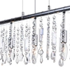 "Picture of 54"" 7 Light Down Chandelier with Chrome finish"