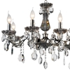 "Picture of 54"" Ottone Traditional Candle Linear Polished Chrome Chandelier 14 Lights"