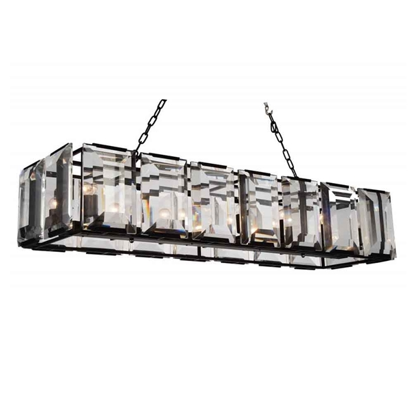 "Picture of 55"" 14 Light  Chandelier with Black finish"
