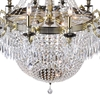 "Picture of 56"" 24 Light Up Chandelier with Antique Brass finish"