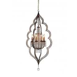 """56"""" 8 Light Up Chandelier with Champagne finish"""