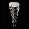 "Picture of 56"" Raindrops Modern Foyer Crystal Round Chandelier Mirror Stainless Steel Base 10 Lights"