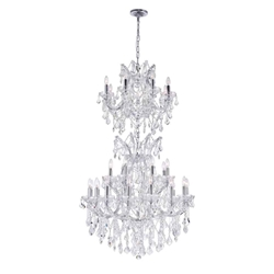 "57"" 34 Light Up Chandelier with Chrome finish"