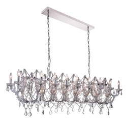 """58"""" 24 Light Candle Chandelier with Chrome finish"""