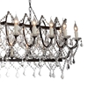 "Picture of 58"" 24 Light Up Chandelier with Dark Brown finish"