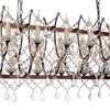 "Picture of 58"" 24 Light Up Chandelier with Light Brown finish"