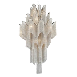 """59"""" 17 Light Down Chandelier with Chrome finish"""