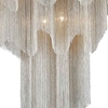 """Picture of 59"""" 17 Light Down Chandelier with Chrome finish"""