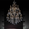 "Picture of 59"" 24 Light Up Chandelier with Antique Brass finish"
