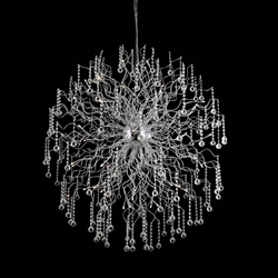 """59"""" 48 Light  Chandelier with Chrome finish"""
