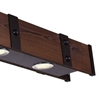 "Picture of 59"" LED Drum Shade Island Light with Black & Wood finish"