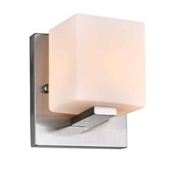 "6"" 1 Light Bathroom Sconce with Satin Nickel finish"