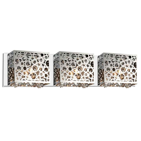 """Picture of 6"""" 3 Light Vanity Light with Chrome finish"""