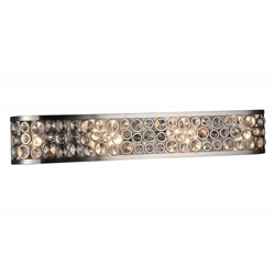 "6"" 6 Light Wall Sconce with Satin Nickel finish"