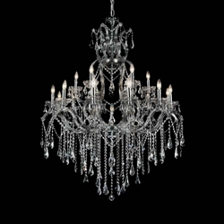 """60"""" 19 Light Up Chandelier with Chrome finish"""