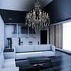 "Picture of 60"" 19 Light Up Chandelier with Chrome finish"