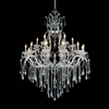 """Picture of 60"""" 19 Light Up Chandelier with Chrome finish"""
