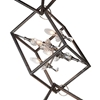 "Picture of 62"" 12 Light Up Mini Chandelier with Luxor Silver finish"