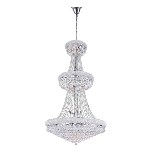 """Picture of 66"""" 34 Light Down Chandelier with Chrome finish"""