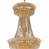 """Picture of 66"""" 34 Light Down Chandelier with Gold finish"""