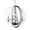 """Picture of 66"""" 49 Light Up Chandelier with Chrome finish"""