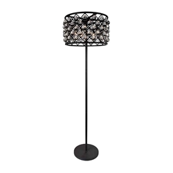 "66"" 5 Light Floor Lamp with Black finish"